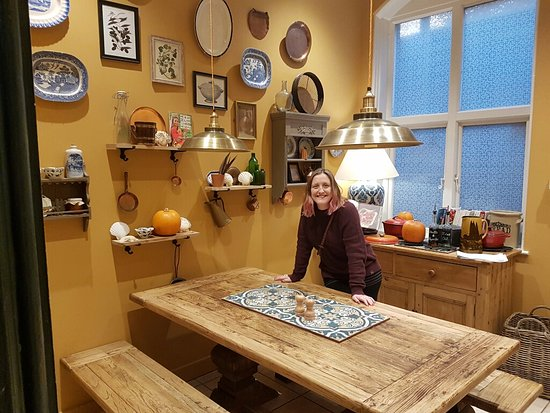 Burley, UK: Private dining kitchen
