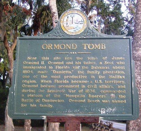 Ormond Beach, FL: Historical Sign