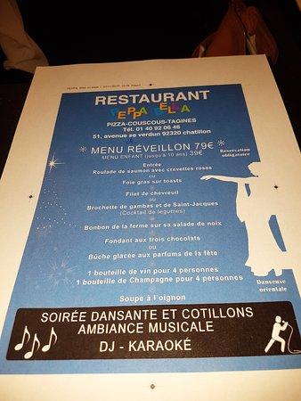 Chatillon, France: rien deprevu le 31? Pourquoi pas passer une excellente soirée afin de démarrer 2017 dans la joie