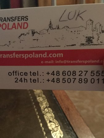 Transfers Poland - Tours and Transfers: Business card