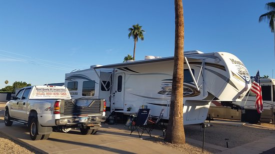 Our RV Site (B-75) at Mesa Spirit RV Resort
