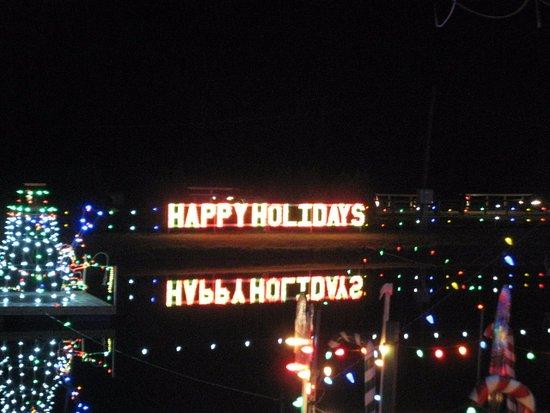 koziar s christmas village lights on the lake