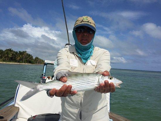 El Pescador Resort: Fishing for bone fish with our El Pescador fishing guide
