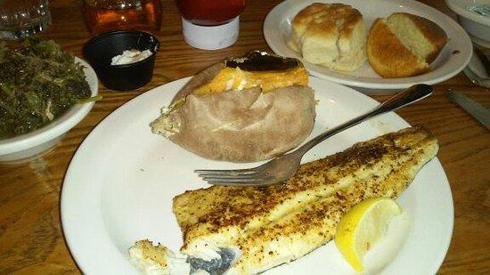 Hamburg, Pensilvania: Grilled trout