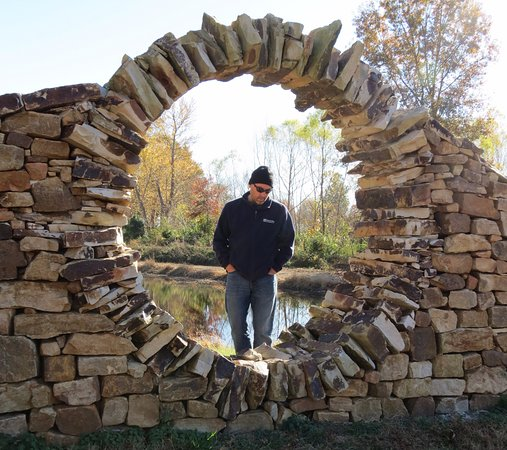 Marion, IL: Stone work at Mandala Gardens