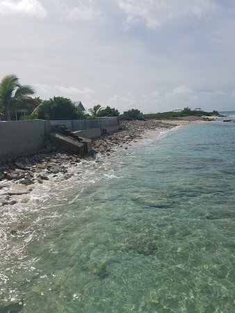 Salt Cay: View facing south from break water wall