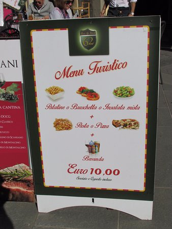 Province of Pisa, Italy: Tourist Menu