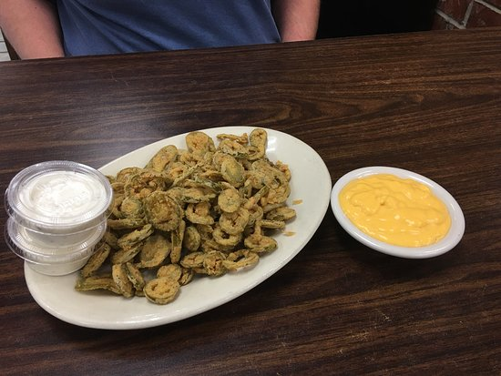 Jennings, LA: They really do mean overstuffed.... and the jalapeños are HOT!