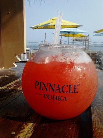 "Old Lyme, CT: ""Patio Punch"" in Fishbowl at Lennys"