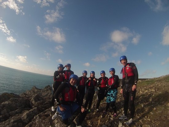 St Davids, UK: Smile all round after an exhilarating morning