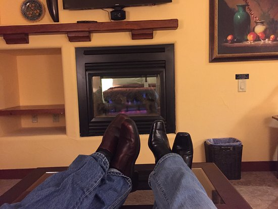 Лос-Гатос, Калифорния: Enjoying the living room and the heat of the fire place.
