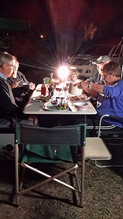 Yarram Holiday Park: Barbeque time
