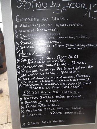Portet-sur-Garonne, France: menu au choix