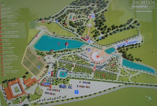 buddha eden mapa Mapa do local: fotografía de Bacalhoa Buddha Eden, Bombarral  buddha eden mapa