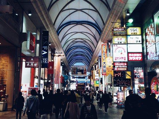 Okonomiyaki Shintenchi Micchan Hondori Street In Downtown Area The Restaurant Is Here