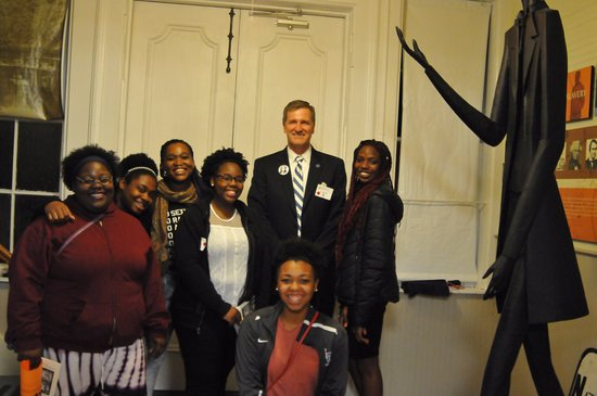 Peterboro, État de New York : students from BC and their College President