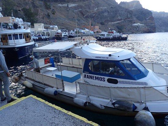 Santorini Sea Trips Anemos: Capt Stathis' boat, Anemos