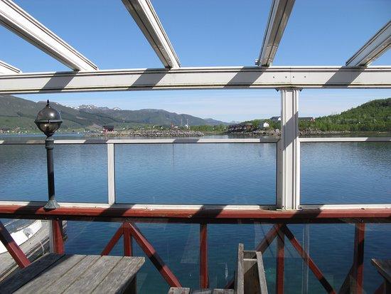 Blick auf Fjord, Stokmarknes
