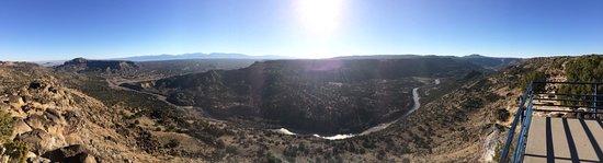 Los Álamos, Nuevo Mexico: Panoramic view of the Rio Grande