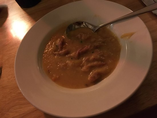 Pennan, UK: Pea and ham soup. Delicious!