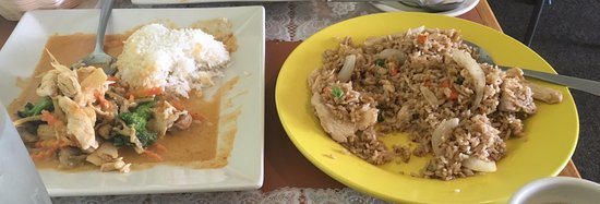 Troy, MI: Red Coconut Curry and Thai Fried Rice