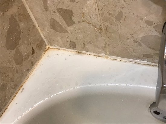 Sheraton Suites Country Club Plaza: Mold around edges of tub.