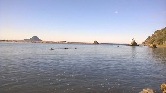 Whakatane, New Zealand: Looking out to Whale Island/Moutohorā
