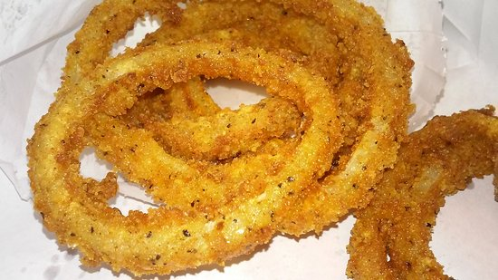 Southlake, TX: Onion rings(GREAT when dippedin their Ranch Dressing)