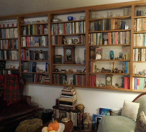 Time After Time Bed and Breakfast: Great collection of books and clocks