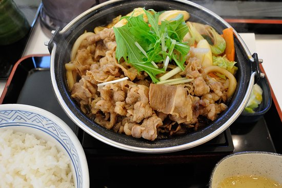 Akishima, Japan: 牛すき鍋膳大盛り