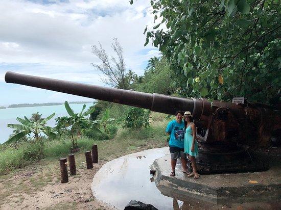 Wwii Gun Bild Von Vavau 4x4 Adventures Bora Bora Tripadvisor