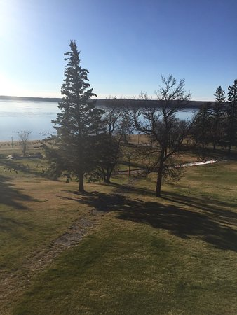 Carlyle, Canada: View from our balcony in the morning.