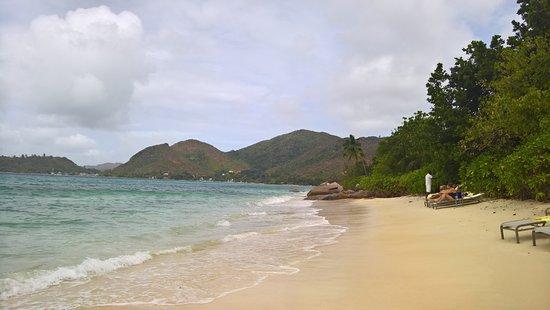 Small beach at the resort