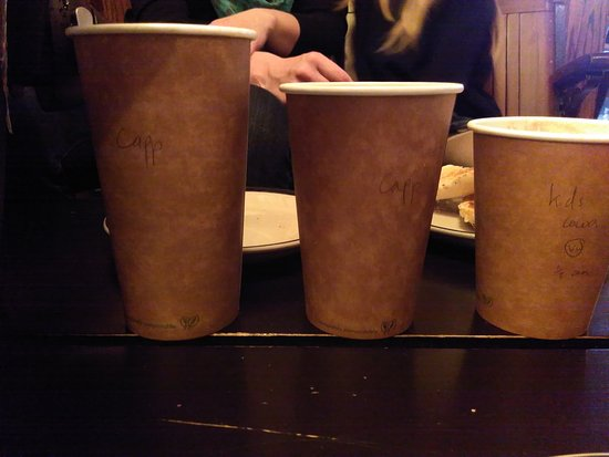 Dover, NH: Great coffee of different sizes
