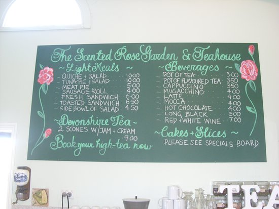 Sutton, Australia: General menu