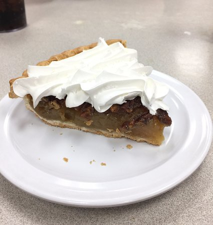 Shawnee, OK: Pecan Pie (with whipped cream)