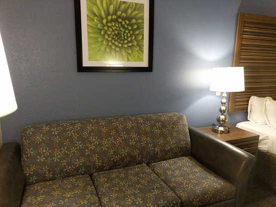 Fishers, IN: A foldout sofa