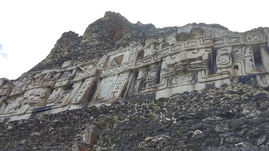 Belize District, Belize: Cool stone carvings