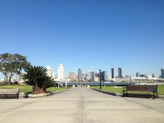 Coronado, CA: View towards San Diego skyline