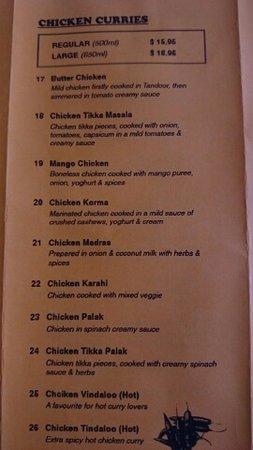 Biloela, Australia: menu