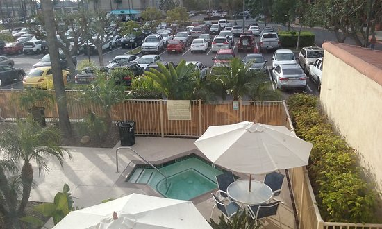 Our View Was The Jacuzzi Hampton Inn And Suites Los Angeles Anaheim Garden Grove