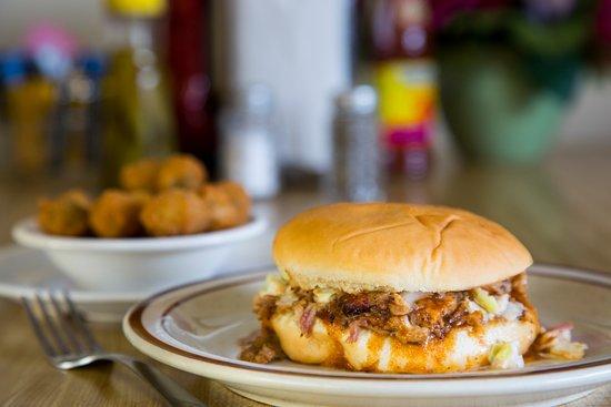 Lindsey's Hospitality: Sandwich and Fried Okra