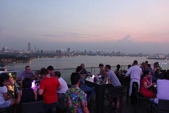 Summit Lounge on the 20th floor of Pan Pacific Hanoi