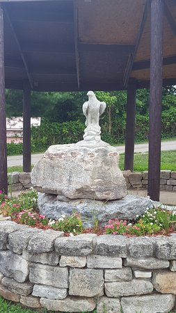 Galena, MO: This is a memorial at the gazebo in the Y-state park picnic area.