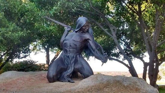 Lakeside, كاليفورنيا: Warrior Statue.