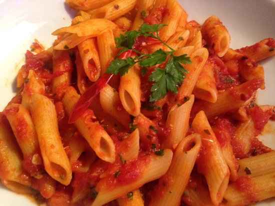 Bolton, UK: Penne Arrabiato (I think) made with chili. Fresh, simple, spicy and delicious!