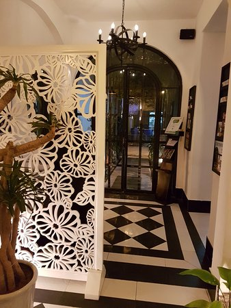 The Hallway With Its Classy Black White Floor Tiles Picture Of