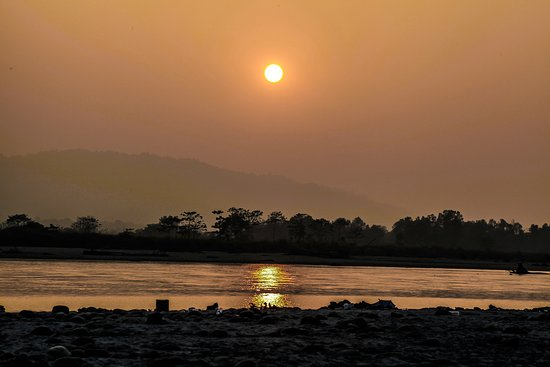 Chitwan District, Nepal: Sunset view near Homestay