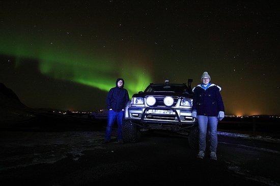Hafnarfjordur, أيسلندا: Northern lights near Selfoss 20.11.16