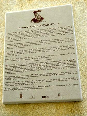 Casa Natale Di Nostradamus : Arrivati insegna